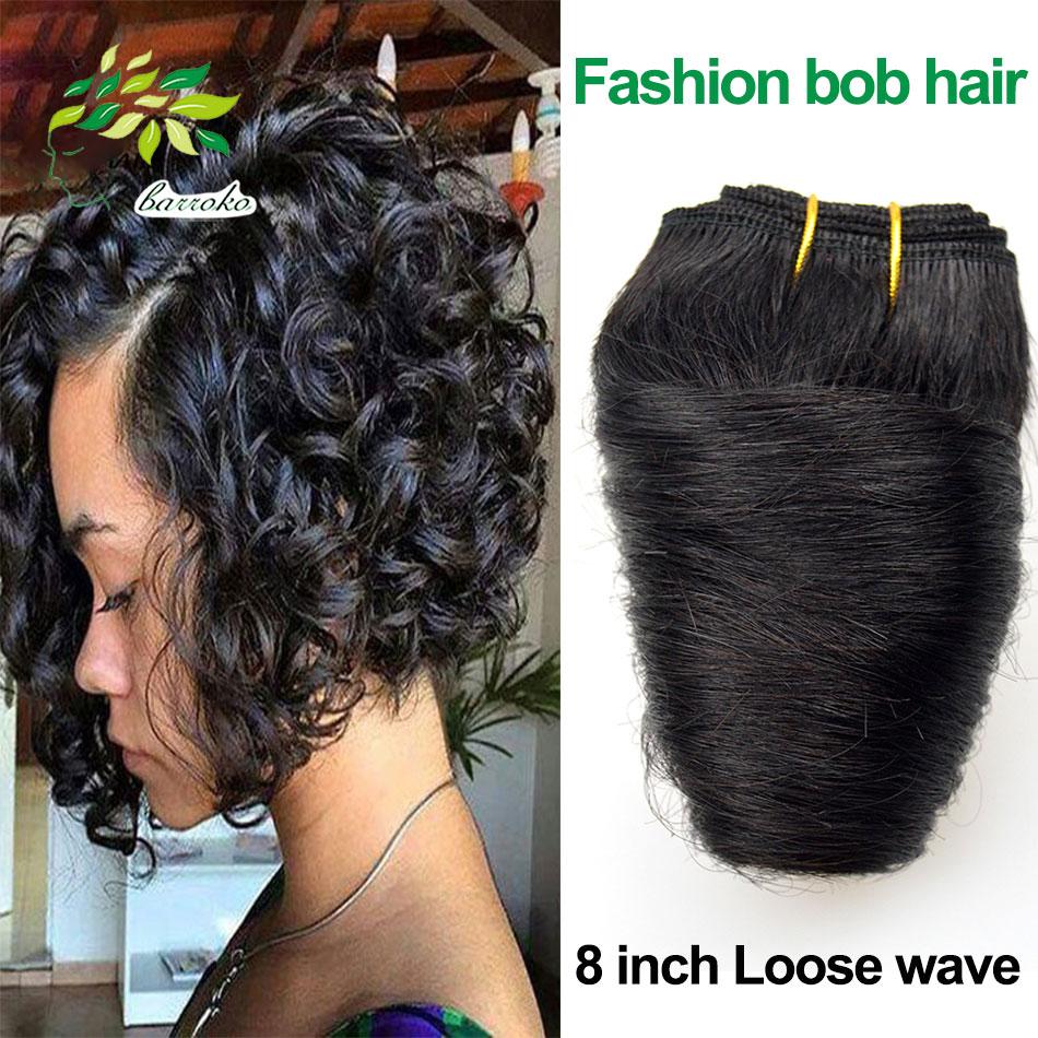 trendy short bob hair weave 6 pcs lot indian virgin hair loose