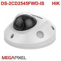 Hikvision 4mp darkfighter mini dome DS 2CD2545FWD IS poe de áudio alarme cctv vigilância vídeo eua firmware ipc câmera rede wifi ip camera ip camera network camera -