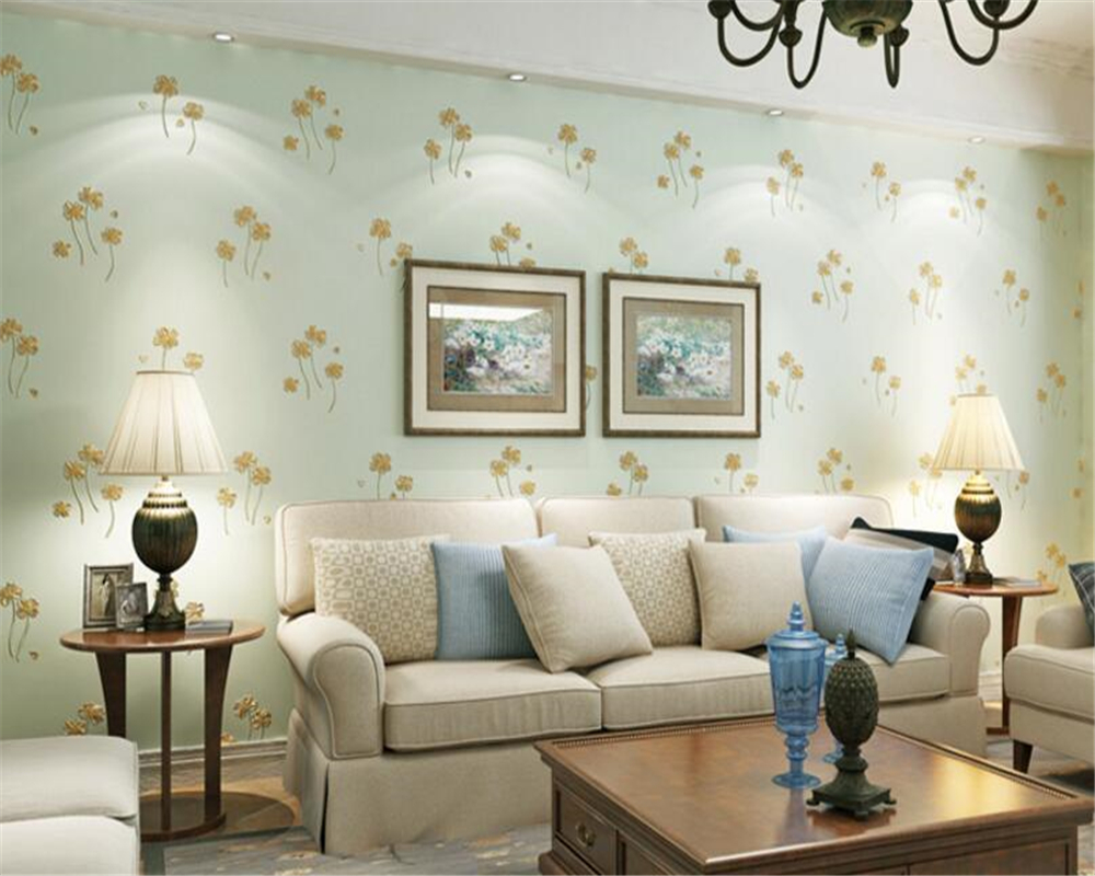 beibehang Non-woven wallpaper stereo carved warm pastoral flower wall paper bedroom living room TV backdrop wall papel de parede