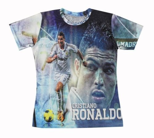 Стили криштиану роналду женщины / мужчины в футболки унисекс тройник пары майка рубашка 3D во всем принт топы свободного покроя рубашка