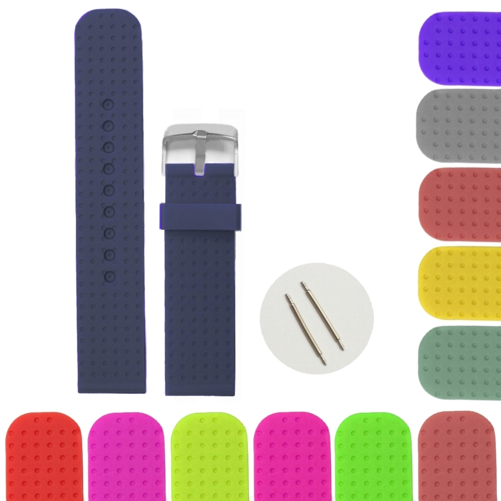 20mm Navy Blue Color Silicone Jelly Rubber Unisex Watch Band Straps WB1053T20JB three band buckled slide sandal navy blue