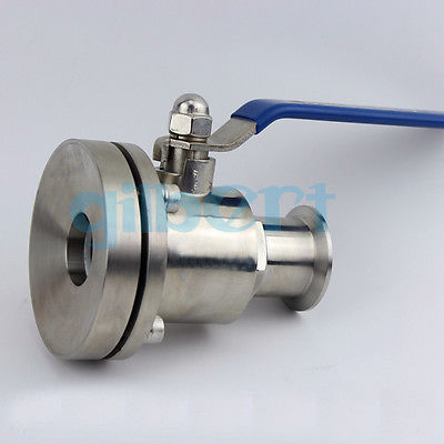 2 51mm SUS316L Stainless Steel Sanitary 2 Tri Clamp Tank Bottom Ball Valve For Homebrew Dairy Product hot 1 5 ss316l stainless steel rotary spray cleaning ball cip tri clampe tank cleaning ball
