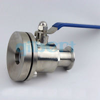 2 51mm SUS316L Stainless Steel Sanitary 2 Tri Clamp Tank Bottom Ball Valve For Homebrew Dairy Product