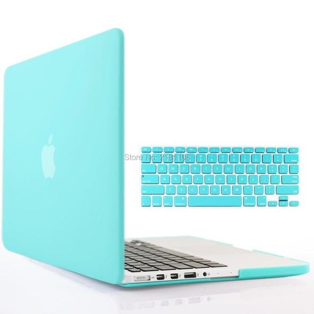 huge discount 281c1 3ddfc US $11.39 5% OFF|Tiffany Blue Matt Hard Case+Keyboard Cover for Macbook Pro  13 15