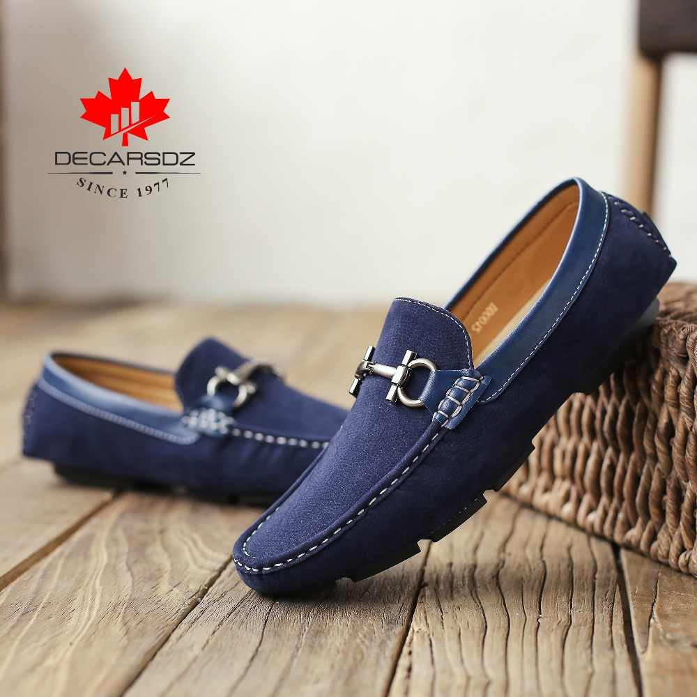 Erkekler loafer ayakkabılar 2020 moda sonbahar saf sürücü ayakkabı marka bot ayakkabı yeni erkek İngiliz tembel gündelik erkek ayakkabısı