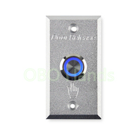 Metal Door Release Switch With LED Light Aluminium Alloy Door Exit Button Emergency Door Security Switch