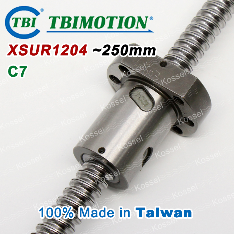 TBI Hot Sale XSU1204 SFU1204 CNC Ball Screw 250mm ball screw ball nut and end machined for high stability linear CNC diy kit tbi dfi 2505 600mm ball screw milled ballscrew and end machined for high stability linear cnc diy kit