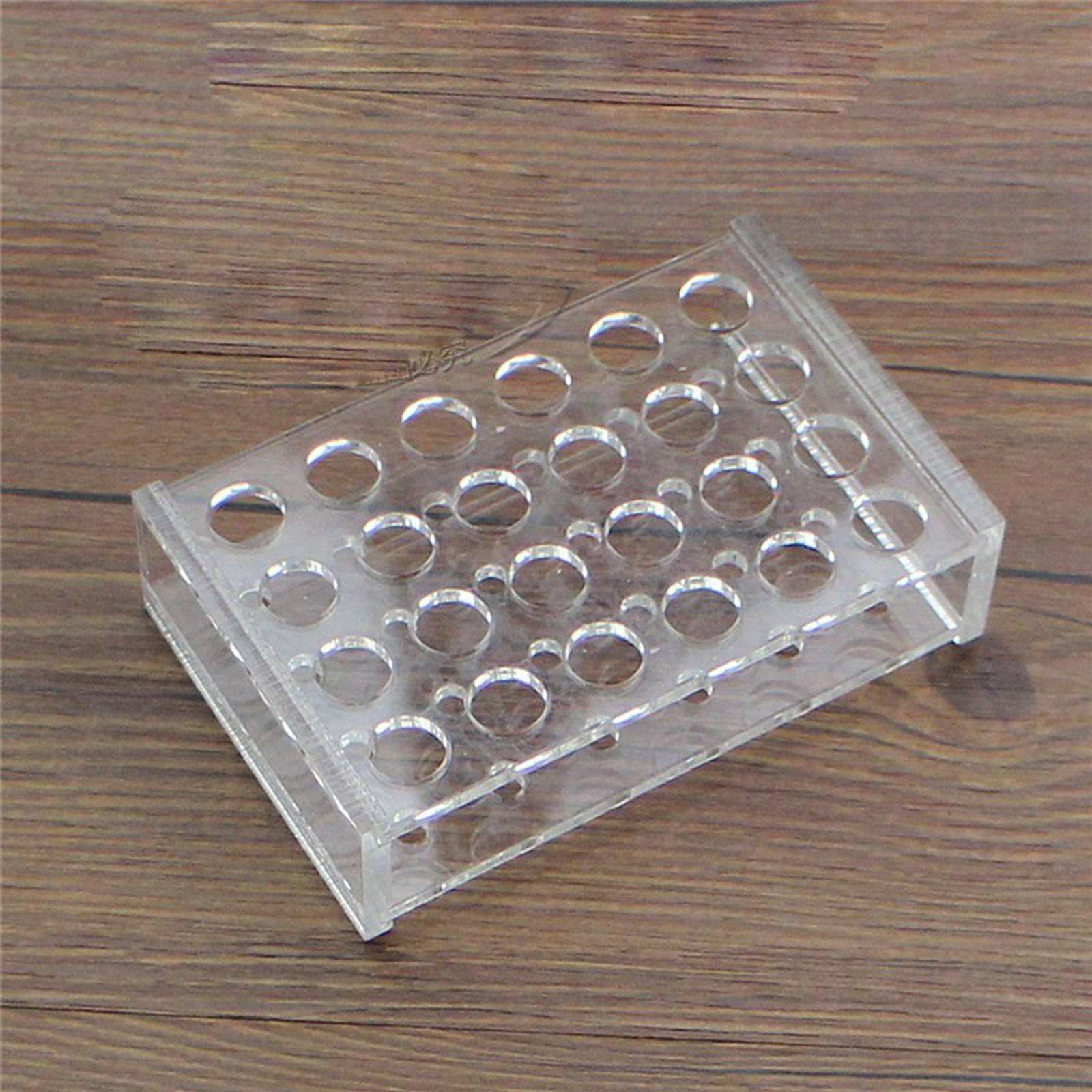 14mm Diam 24 Holes Methyl Methacrylate Rack Stand For 5ml Centrifuge Tubes