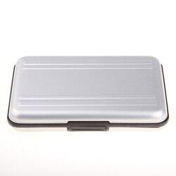 Argento Micro SD Supporto di Carta SDXC Supporto di Memorizzazione di Memoria Cassa di Carta caso Della Protezione 16 solts per SD/SDHC/ SDXC/Micro SD