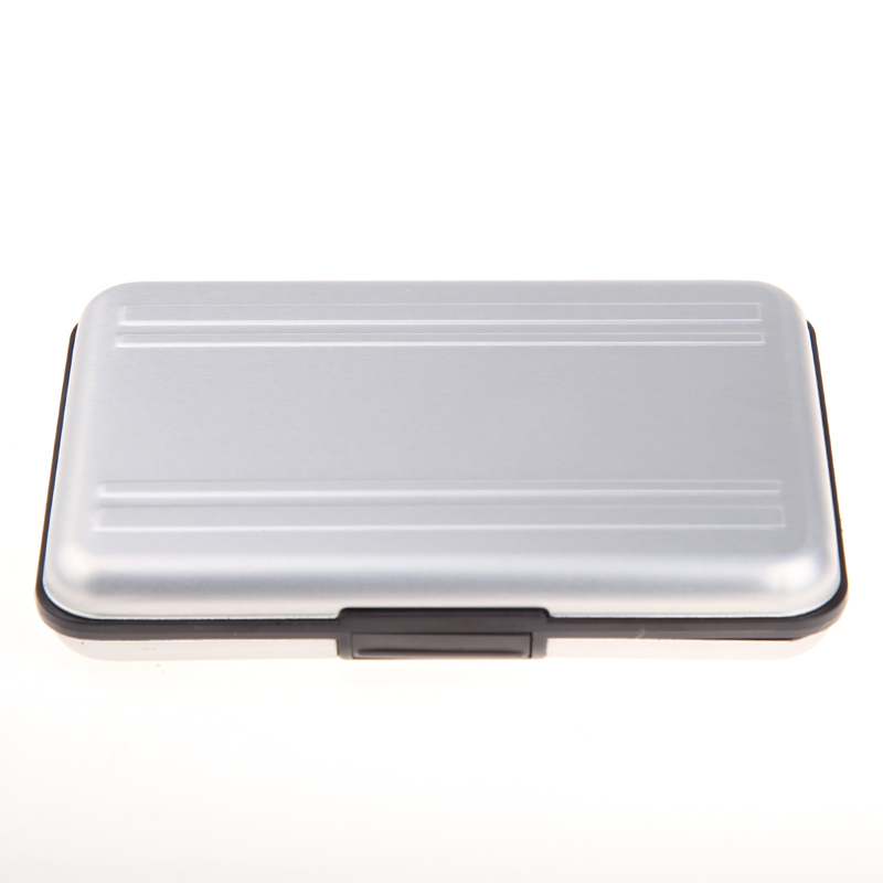 Silver Micro SD Card Holder SDXC Storage Holder Memory Card Case Protector Aluminum case 16 solts for SD/ SDHC/ SDXC/ Micro SD