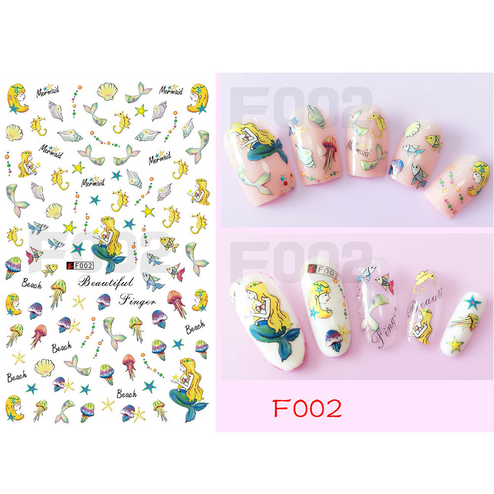 1 Sheet Banana Design Water Summer Nail Slider Art Stickers 3D Decal For Nail Art DIY Decoration Tips Manicure Decal BEF005 in Stickers Decals from Beauty Health
