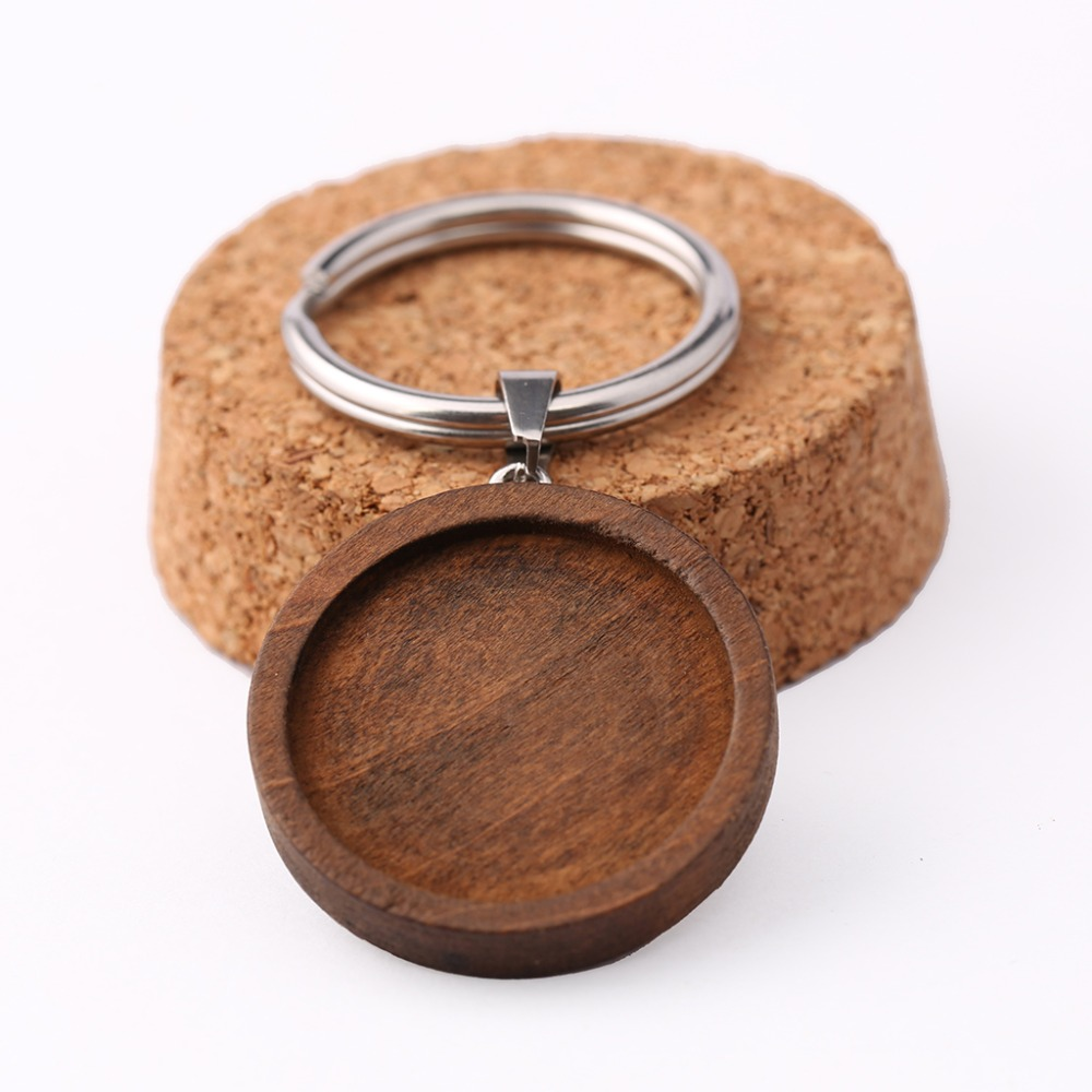 onwear 5pcs 25mm round wood cabochon keychain base settings diy blank wooden cameo trays for key chain making onwear 10pcs adjustable wood cabochon ring base 12mm diy blank bezel settings for jewelry making