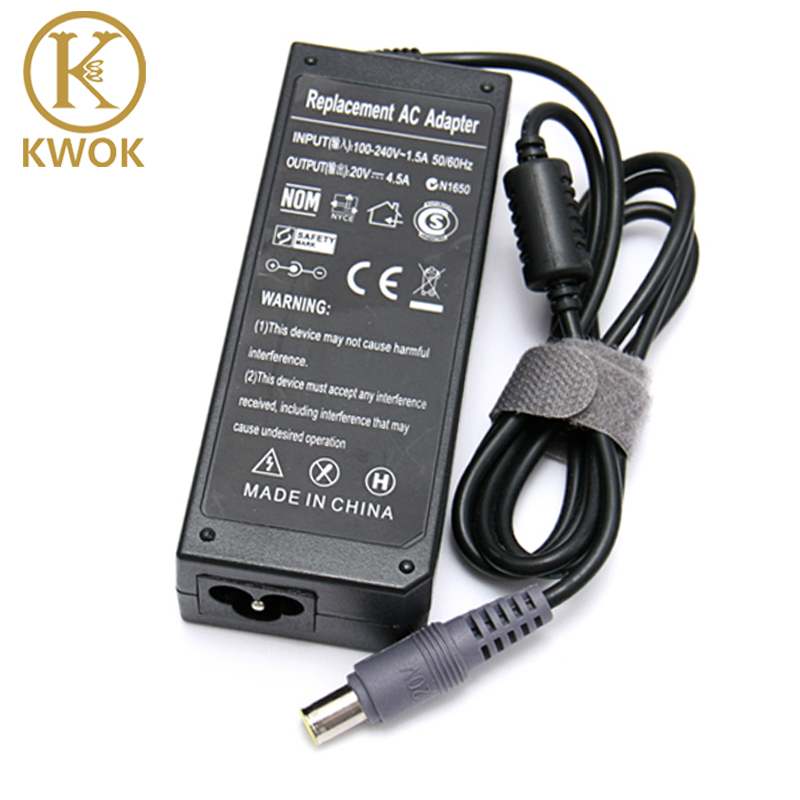 20V 4.5A 90W Replacement <font><b>AC</b></font> <font><b>Adapter</b></font> Charger For <font><b>Lenovo</b></font> <font><b>Thinkpad</b></font> E420 E430 T61 T60p Z60T T60 T420 T430 F25 Notebook Power Supply