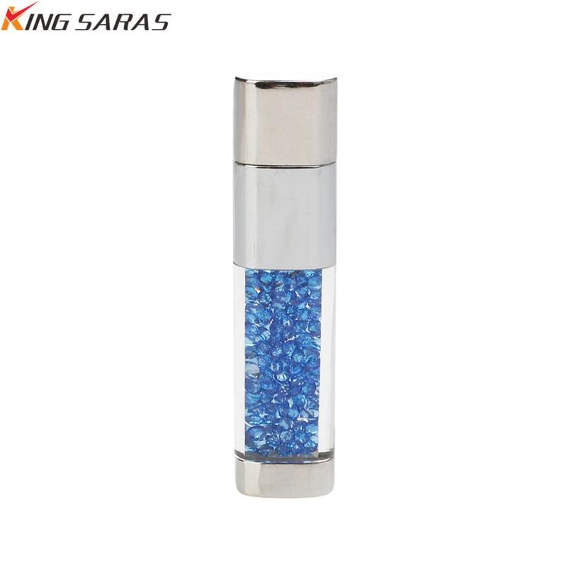King Saras New Usb Flash Drive  Crystal Pen Drive 4GB 8GB 16GB 32GB Metal USB 2.0  Pendrive 64GB 128GB For Gift Free Custom Logo (10)
