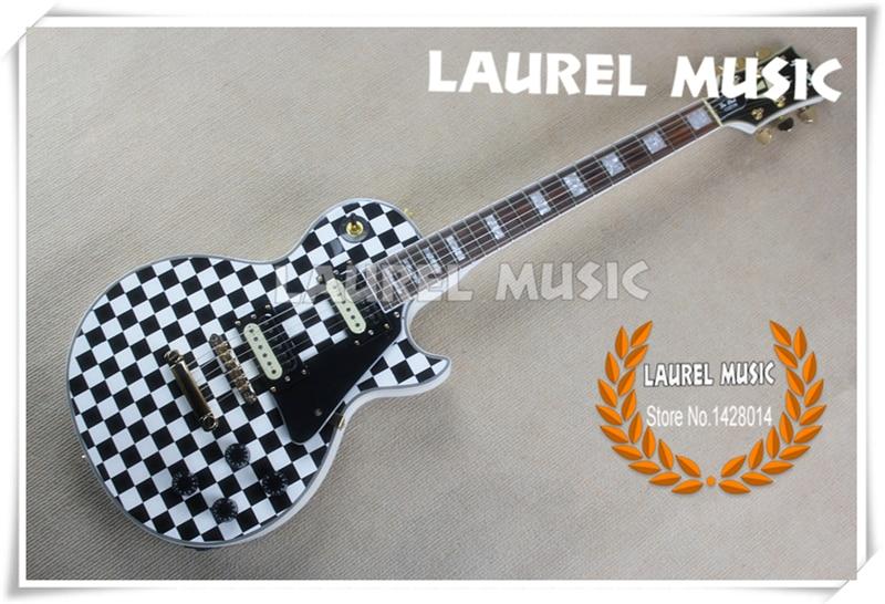 good cheap price classic electric lp custom guitar black karl sandoval polka dot china guitars. Black Bedroom Furniture Sets. Home Design Ideas