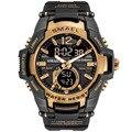 SMAEL спортивные часы мужские модные повседневные часы с будильником 50 м водонепроницаемые военные часы Chrono с двойным дисплеем наручные часы ...