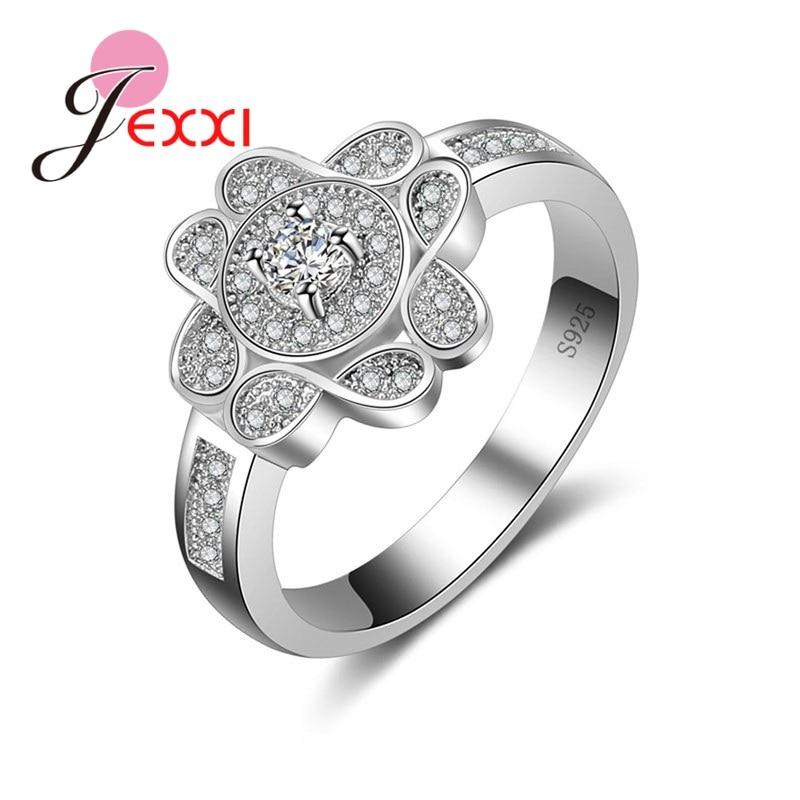 Jexxi Flower Shape With 4 Infinity Symbol Micro Inlay Cz Women 925