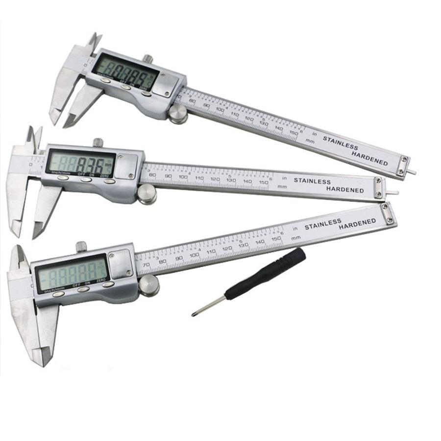 VOTO Micrometer Vernier Calibre Digital Caliper Rule Micrometro Mesure Instrument Metal Calipers Schuifmaat Woodworking Tools