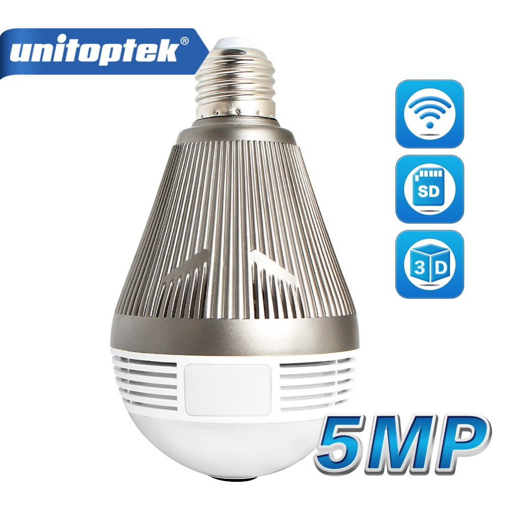 960P 1080P 3MP 5MP Bulb Light Wireless IP Camera Wi-Fi FishEye 360 Degrees CCTV 3D VR Camera 1.3MP Home Security WiFi Camera