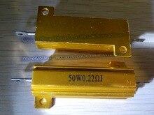 10 шт./лот RX24 50 Вт вт 0.22R 0.25R 0.33R 0.4R 0.47R 0.5R 0.6R 0.8R ом из светодиодов нагрузочного резистора алюминиевый чехол проволочный резистор