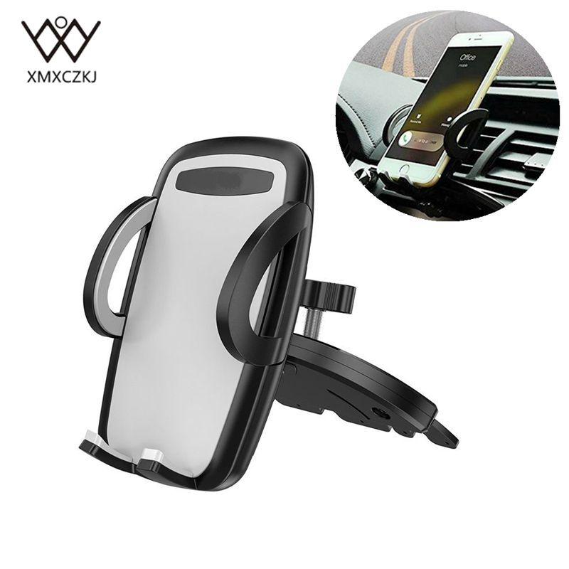 Universal Car Phone Holder For Mobile Phone 360 Rotation Phone Holder Car CD Slot Mount Stand For iPhone X 8 7 Clip GPS Bracket iphone