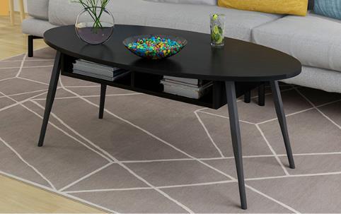Moderne eenvoudige woonkamer salontafel, elliptische hoek/thee/end ...