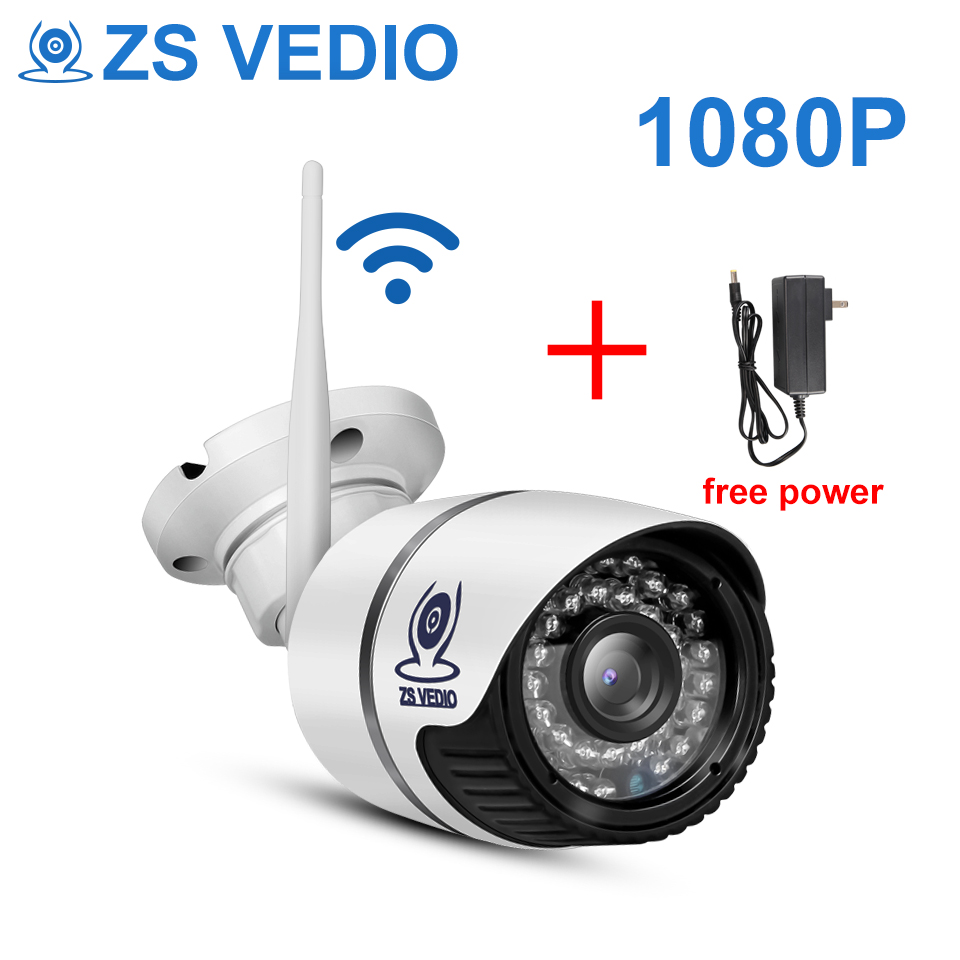 ZSVEDIO Surveillance Cameras IP Camera Onvif 1080 Wi Fi Outside Wireless 2 0MP Full HD Alarm