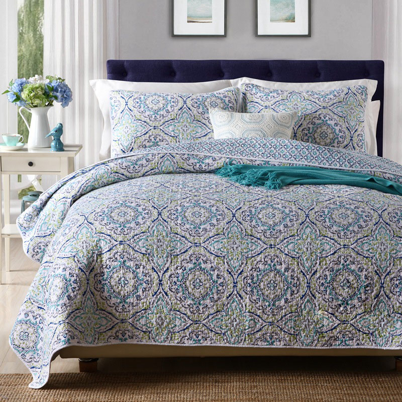 CHAUSUB Amerikaanse Dekbedden Vintage Quilt Set 3 stks Quilts Katoen Gewatteerde Sprei Deken kingsize Bed Cover Zomer Beddengoed-in Quilts van Huis & Tuin op  Groep 1