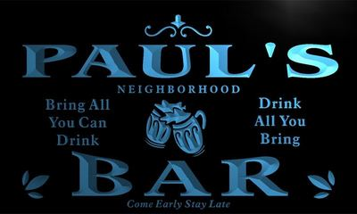 x0013-tm Pauls Neighborhood Bar Beer Mug Custom Personalized Name Neon Sign Wholesale Dropshipping On/Off Switch 7 Colors DHL