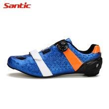 САНТИЧ зима мужчины дороги углерода Велоспорт обувь Велоспорт кроссовки нескользящая обувь высокого качества горные Дорожный велосипед замок обувь