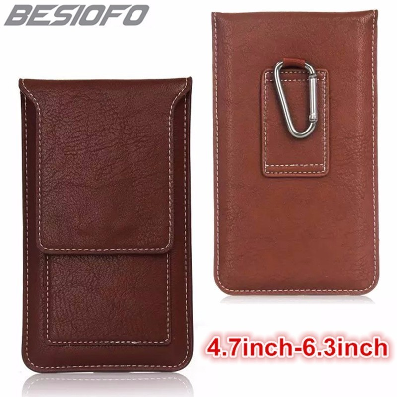 PU Leather Bag Outdoor Climbing Holster Hook Loop Belt Magnetic Pouch Phone Case For Samsung Galaxy