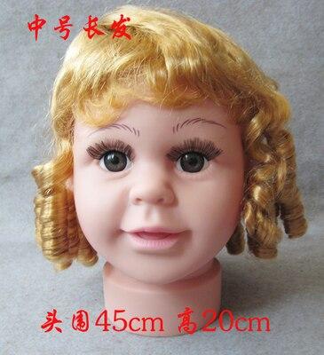 Cammitever 45 см детская манекен голова с парик подходит для маленьких мальчиков Детские головка манекена