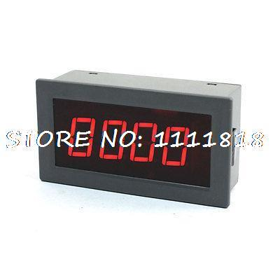 цена на Panel Mounted Gauge Red Display 0-9999 Digital Frequency Meter AC/DC 8-24V