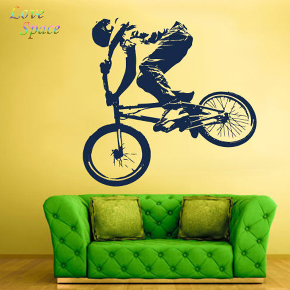 Wall Decal Vinyl Sticker Decals Bike Cycle BMX Bicycle Jump 56X59cm ...