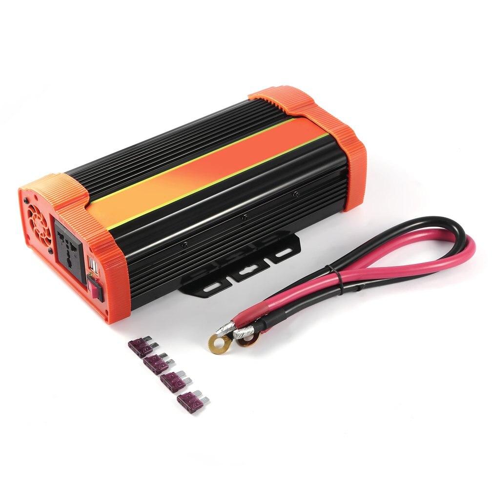 P1500C 1500W haute puissance voiture onduleur DC12V à AC220V onduleur solaire modifié onde sinusoïdale convertisseur de puissance adaptateur