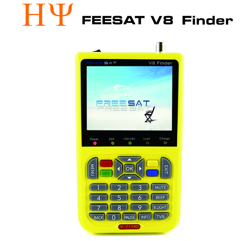 [Genuine] satellite finder FREESAT V8 finder meter DVB-S/S2 with 3.5 inch better satlink ws-6906 Freesat V8 finder anewkodi original satlink ws 6906 3 5 dvb s fta digital satellite meter satellite finder ws 6906 satlink ws6906
