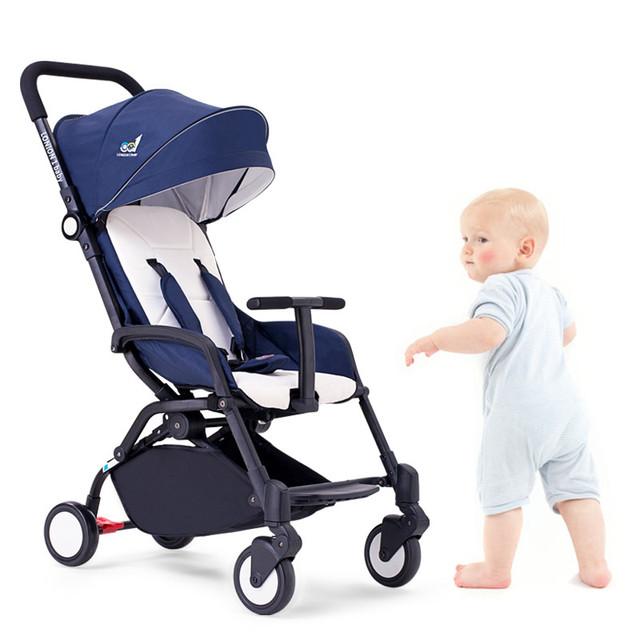 5 cores Do Bebê carro do bebê carrinho de criança dobrável no avião pode sentar plana portátil leve guarda-chuva carro carrinho de bebê