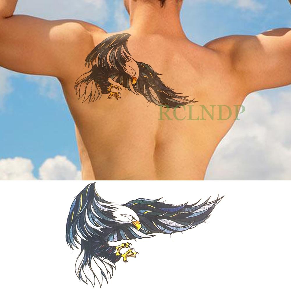 Aguila En La Espalda tatuaje temporal a prueba de agua pegatina alas de águila