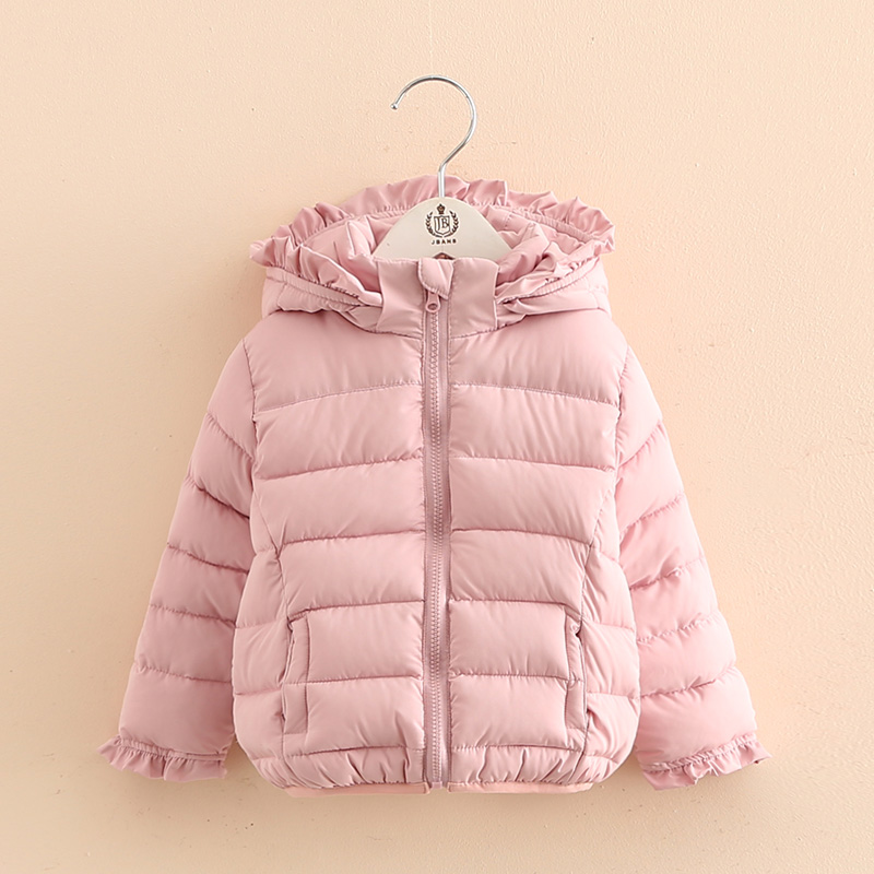 ФОТО 2016 Winter Children'S Clothing Gilrs Thickening Cotton-Padded Jacket Fashion Hot Sale Baby Laciness Wadded Outerwear