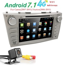 Autoradio 2 Din Android 7.1 Car DVD Player For Toyota Camry 2007 2008 2009 2010 2011Aurion 2006 Head unit Tape Recorder Wifi SWC