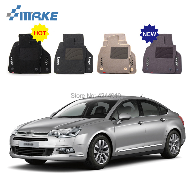 For Citroen C5 Car Floor Mats Front Rear Carpet Complete Set Liner All Weather Waterproof Customized Car Styling for honda fit car floor mats front rear carpet complete set liner all weather waterproof customized car styling
