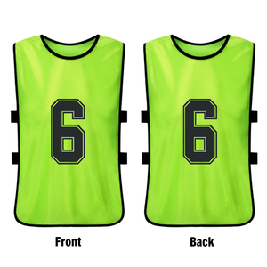 Image 2 - 12 PCS Adults Soccer Pinnies Quick Drying Football Team Jerseys Youth Sports Scrimmage Soccer Team Training Numbered Bibs