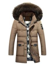 winter Brand White Duck Down Men Down Jacket Fur Hood With Cashmere Winter Jacket High Quality