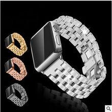 2016 NUEVO Cinco perlas con cadena de reloj de correa de reloj de metal de acero inoxidable sólido para apple apple Reloj 38mm 42mm