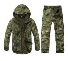 Camouflage Suits HIgh Quality TAD V 4.0 Men Outdoor Hunting Camping Hiking Windproof Coats Jacket Hoody Softshell Jacket+pants