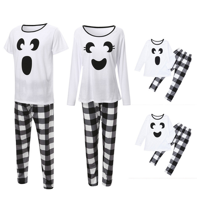 Tops Blouse Pants Family Pajamas Cotton blend