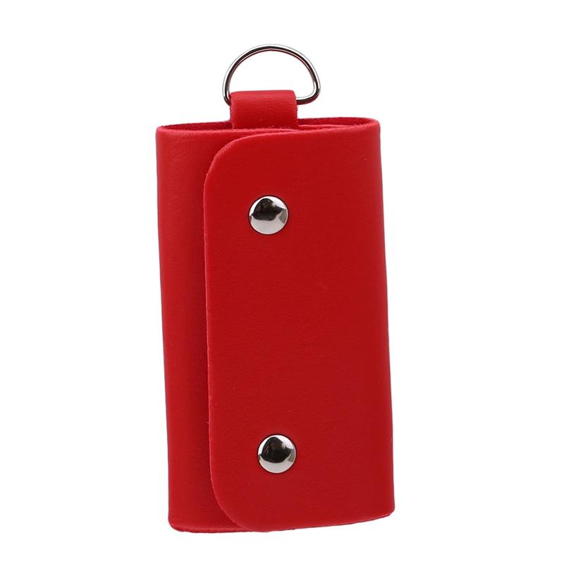 Key Wallet Male Female Leather Buckle Key Case High Quality Keys Holder Brand New Car Keychain Organizer Manager For Women Men