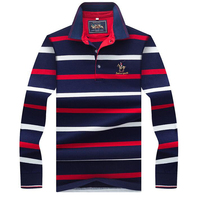 Autumn Winter New Polo High Quality Men Polo Shirt Business Casual Striped Long Sleeves Cotton Solid