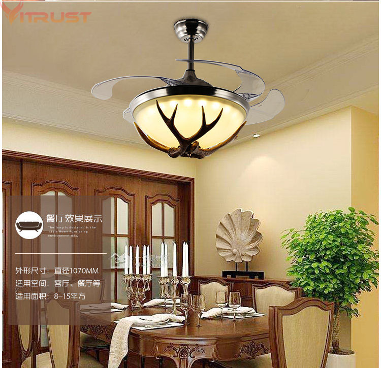 Nordic led ceiling fan lights modern lamps remote control - Bedroom ceiling fans with remote control ...
