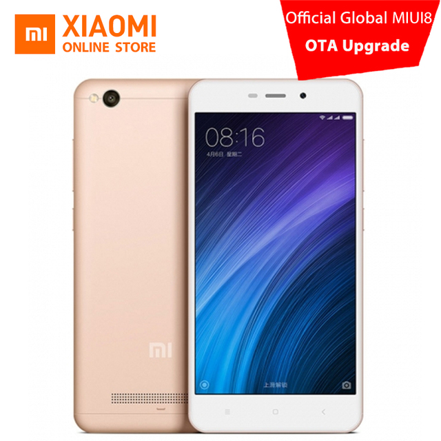Оригинальный Xiaomi Redmi 4A мобильный телефон Snapdragon 425 Quad Core Процессор 2 ГБ Оперативная память 16 ГБ Встроенная память 5.0 дюймов 13.0MP камера на 3120 мАч Батарея